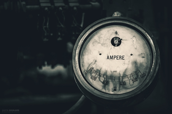 Antique Gauge - Ampere